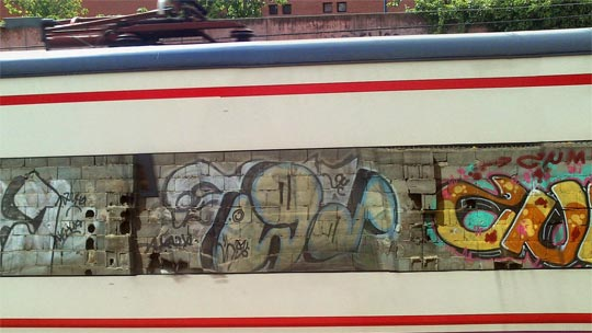 #trainsong KNSE crew #graffiti