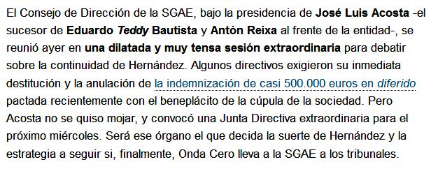 SGAE Teddy Bautista Reixa